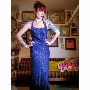 Blue 90s Snake Pattern Gown
